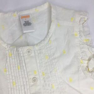 Gymboree Girl's Ruffle Cotton Button Tank Top